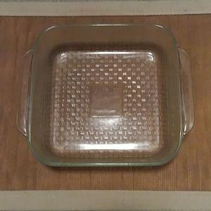 "PYREX ~ Basket Weave Designed Dish * 8"" x 8"" x 2"""